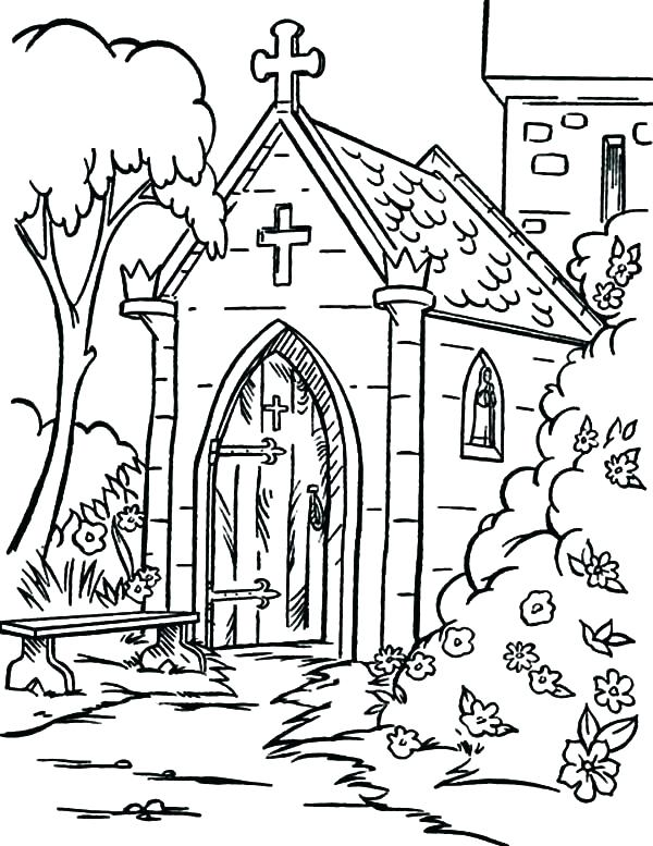600x777 Church Coloring Page Church Coloring Page Coloring Page Early