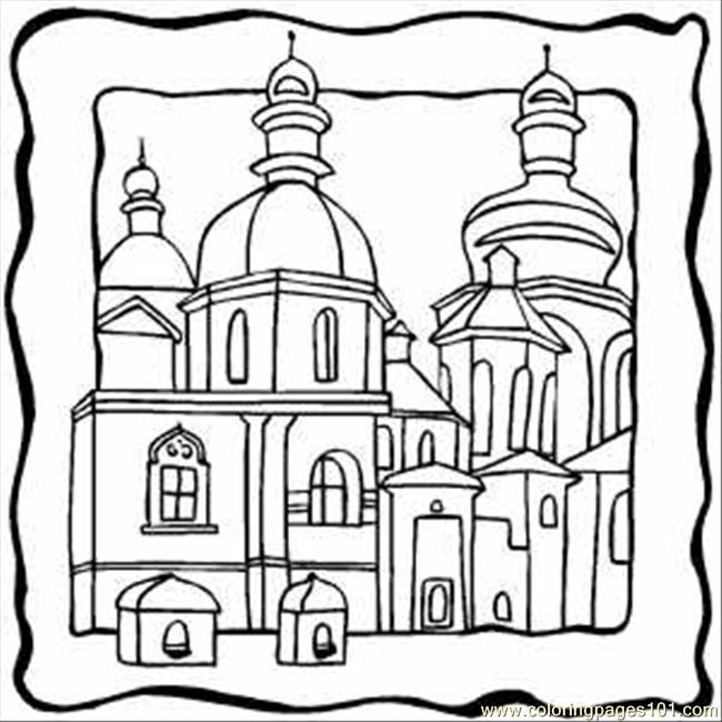 650x650 Top Building Coloring Pages