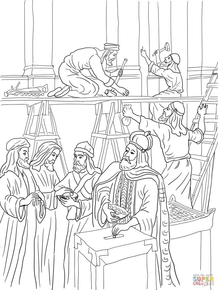 736x981 Elegant Building The Temple Coloring Pages Image