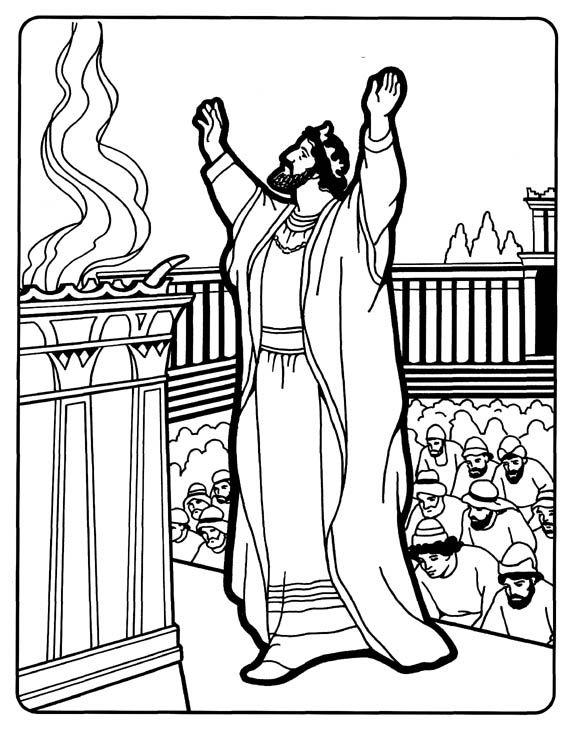 576x729 Solomon Builds The Temple Coloring Pages Solomon