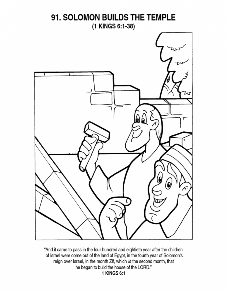 791x1024 Building The Temple Coloring Pages