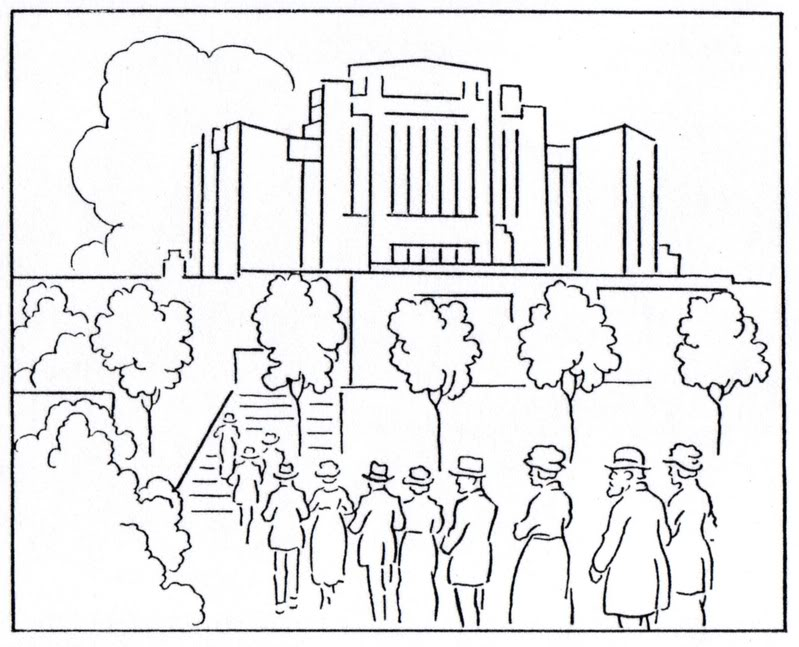 799x647 Temple Coloring Page