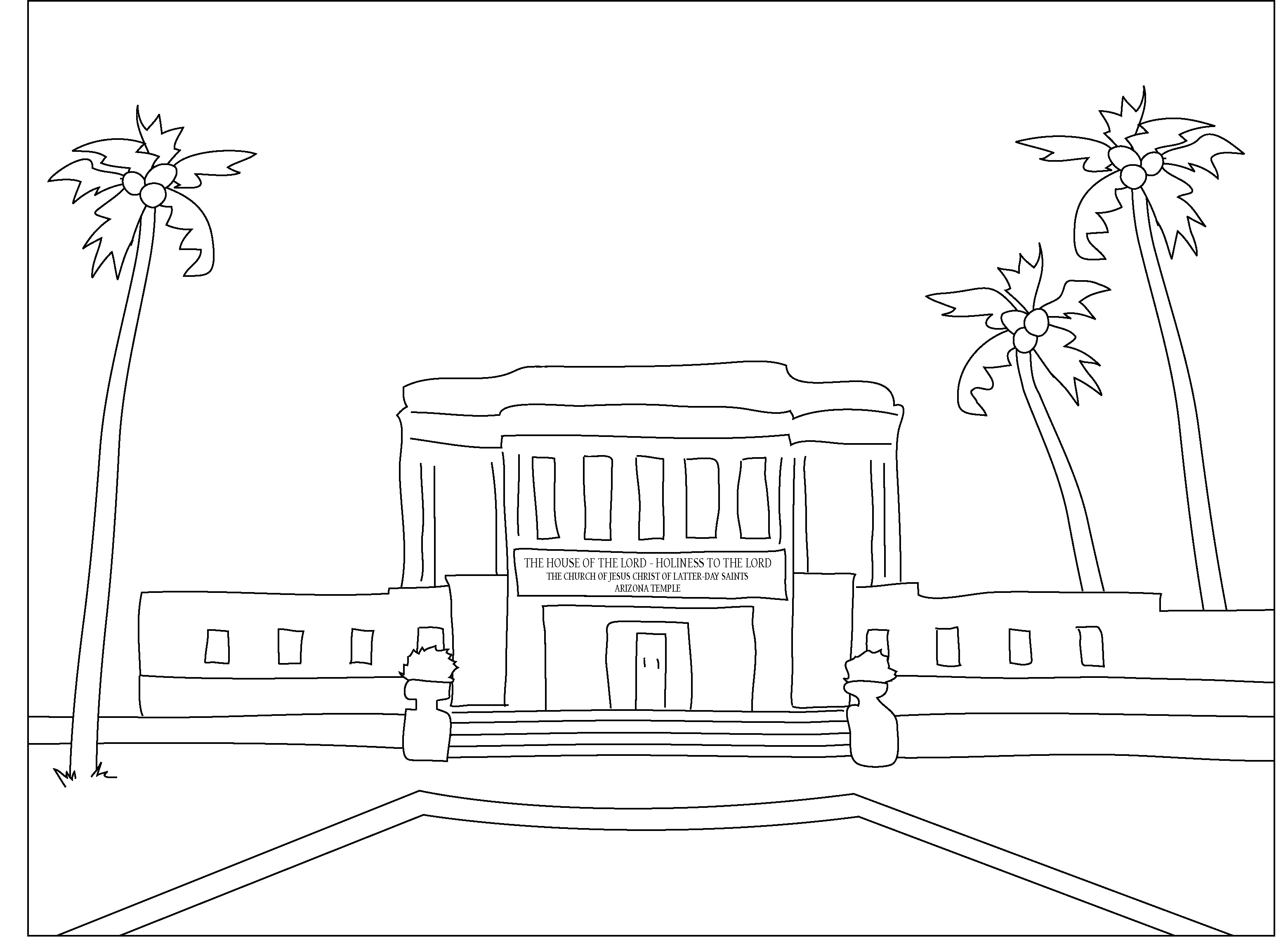 3122x2288 Compromise Kirtland Temple Coloring Page Pages