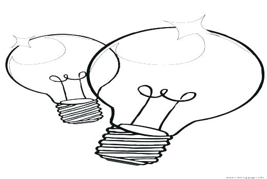 520x350 Christmas Lights Coloring Pages Bulb Coloring Page Light Bulb