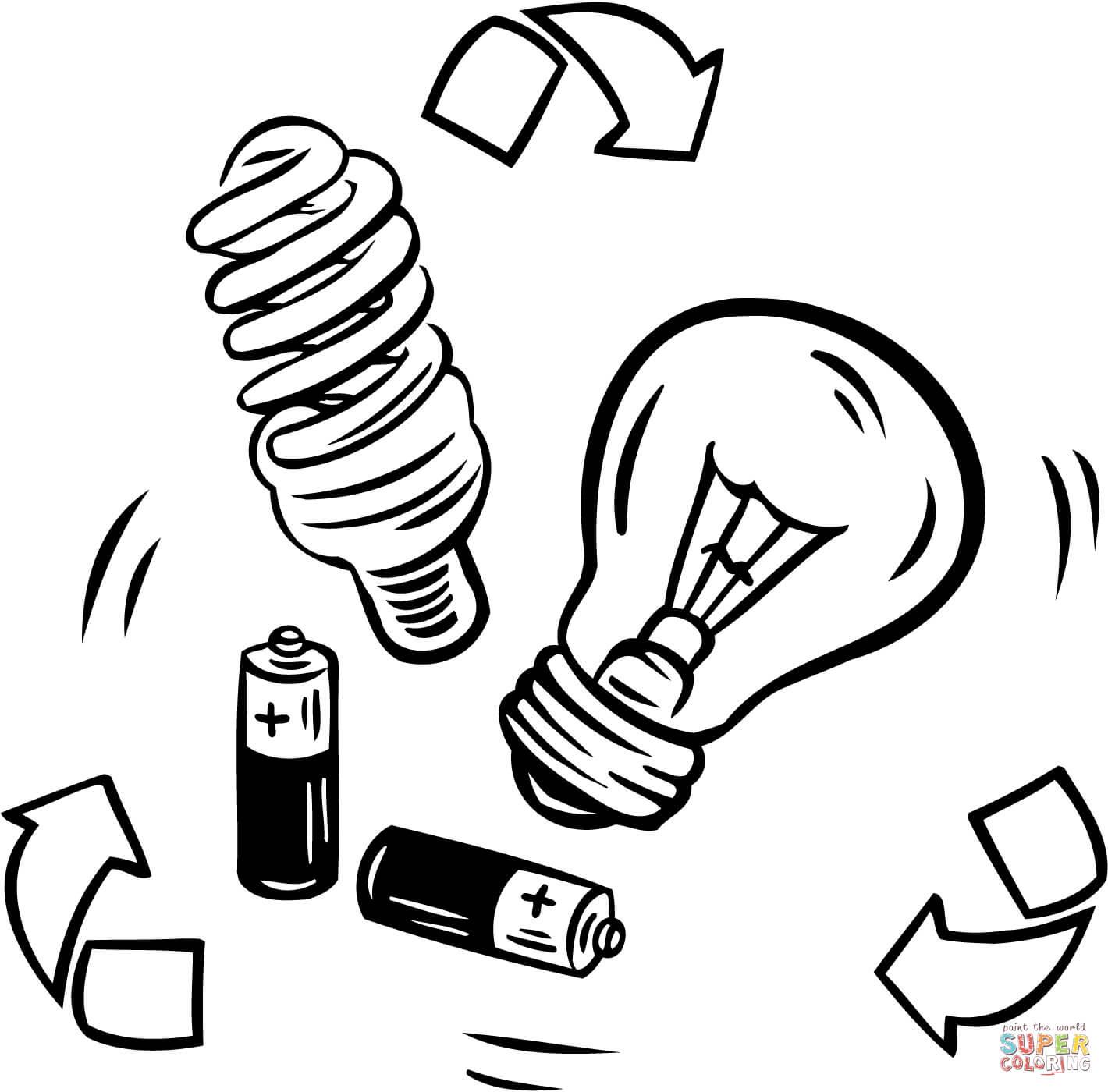 1420x1400 Drawn Bulb Colouring Page