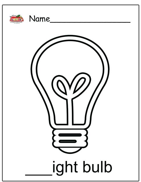 picture relating to Light Bulb Template Printable named Bulb Coloring Web pages at  Totally free for particular person