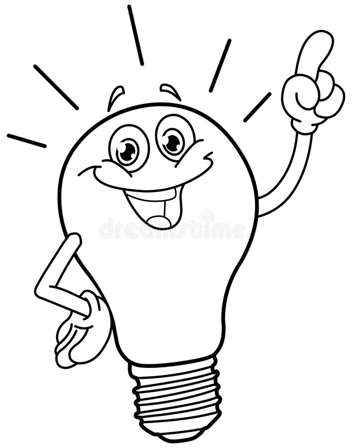 709x900 Light Bulb Coloring Page