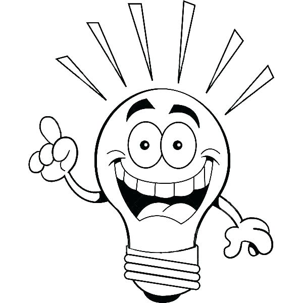 600x600 Light Bulb Coloring Page As Well As Coloring Pages Tree Lights