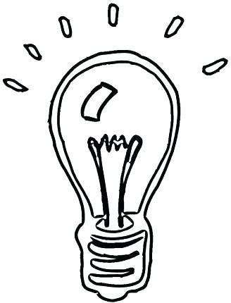 328x430 Light Bulb Coloring Page Plus Idea Light Bulb Coloring Page