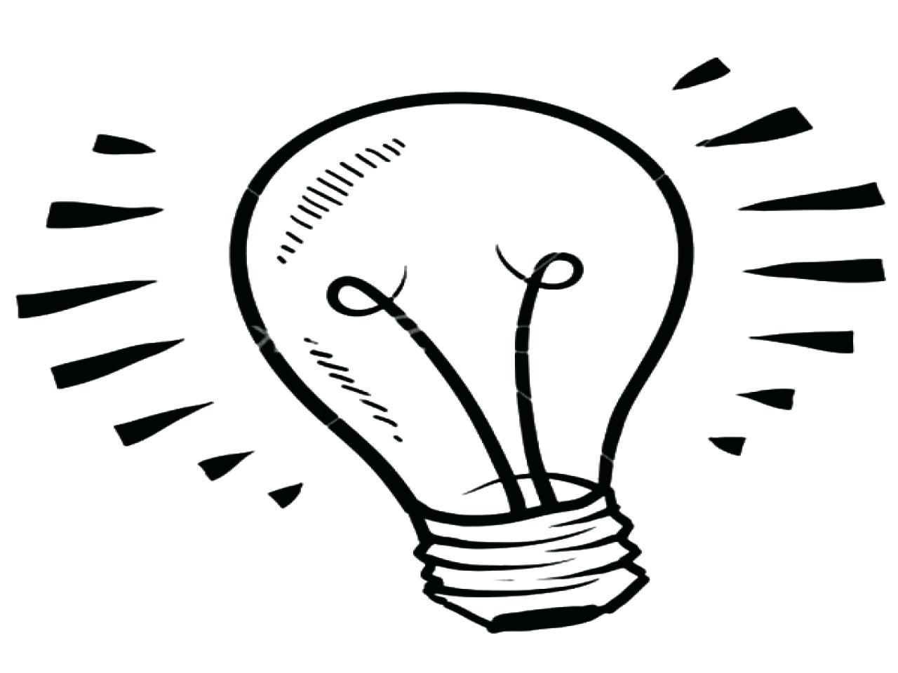 1280x960 Light Bulb Coloring Page Sheet Fluorescent Pages Size Tubes