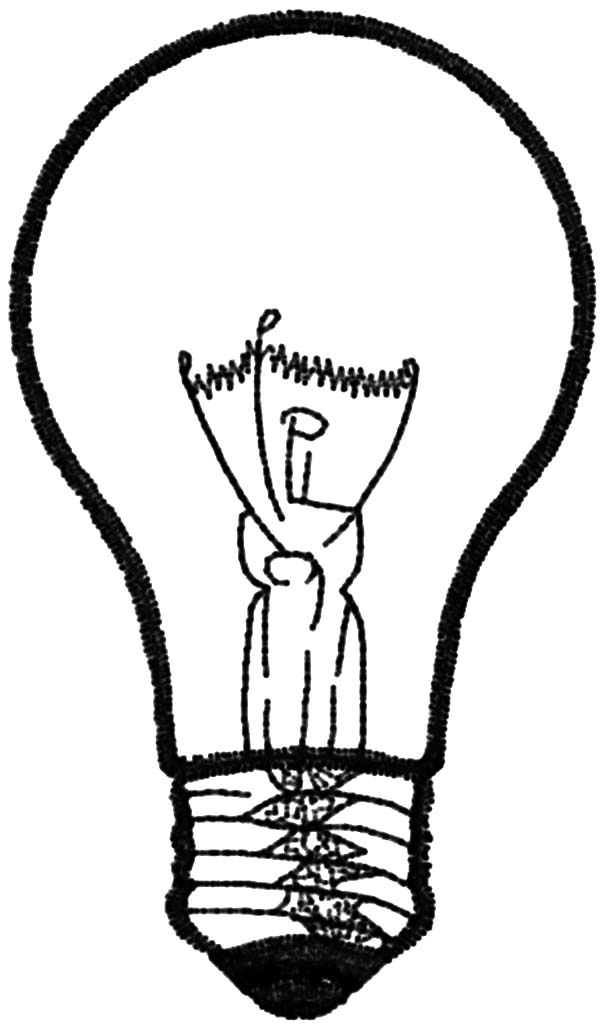 600x1024 Light Bulb Picture Coloring Pages