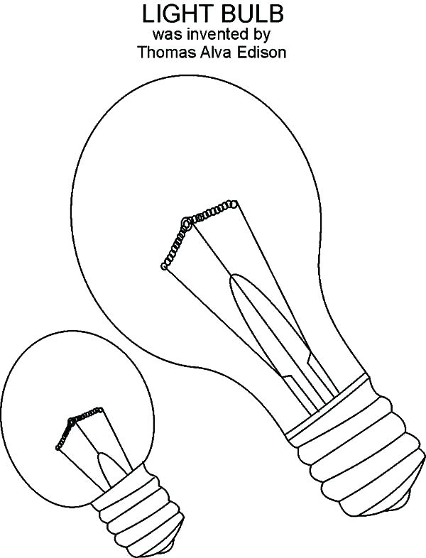 600x786 Thomas Edison Coloring Page Light Bulb Coloring Pages Thomas