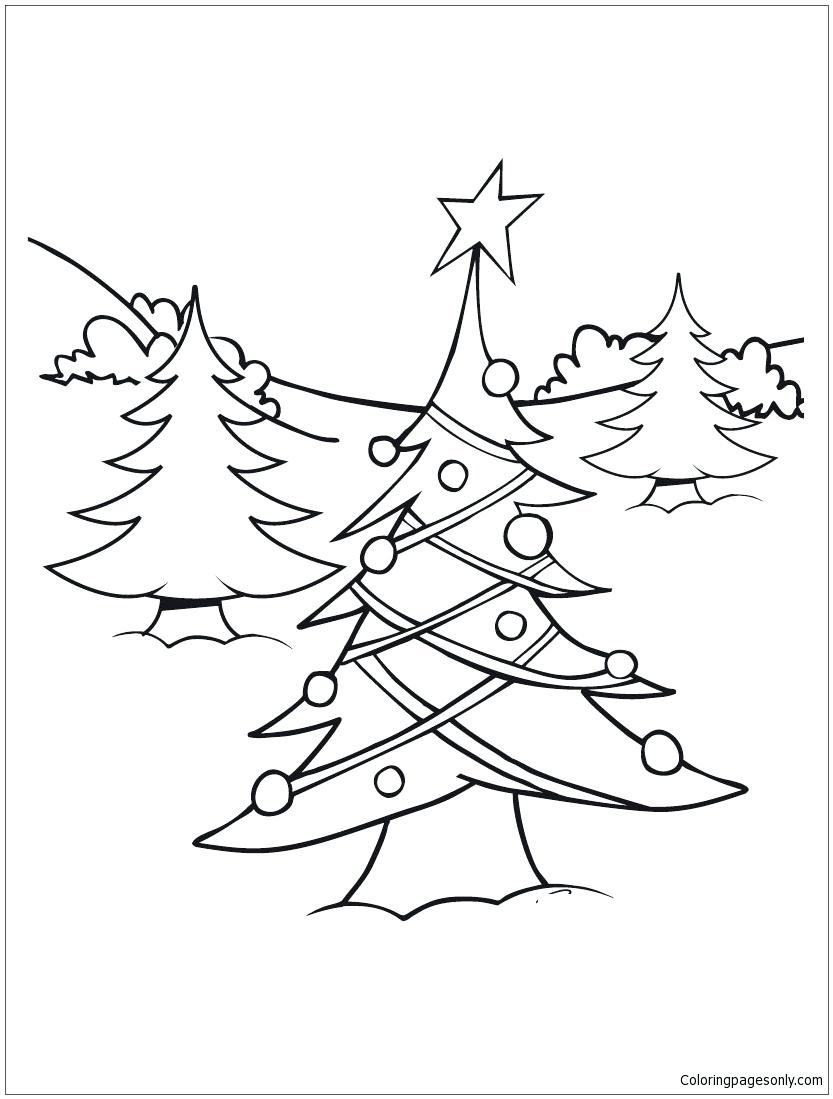 833x1099 Coloring Page Christmas Lights Coloring Pages Tree Page Light