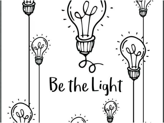640x480 Printable Light Bulb Coloring Page