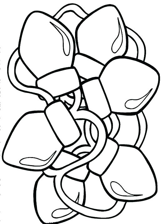 518x713 Christmas Light Bulb Color Pages Lights Coloring Page Colouring