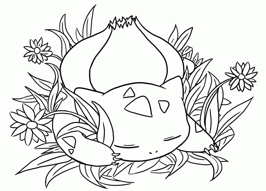 900x649 Bulbasaur Coloring Page Printable Free Coloring Pages