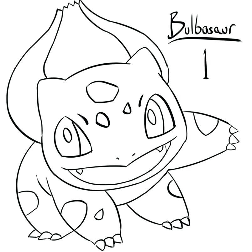 804x804 Bulbasaur Para Colorear Coloring Pages Bulbasaur Para Pintar