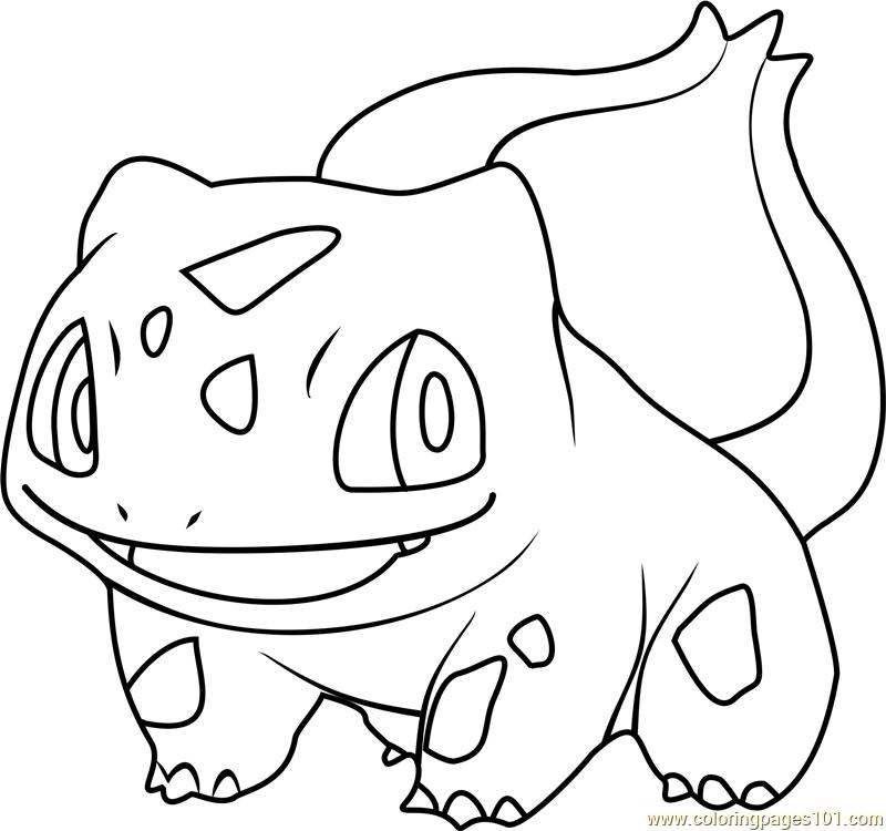 800x750 Bulbasaur Pokemon Coloring Page
