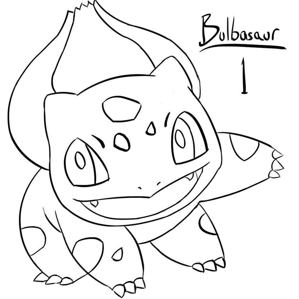 1000x1000 Bulbasaur Coloring Pages