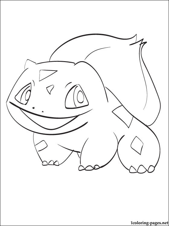 560x750 Pokemon Coloring Page Bulbasaur Coloring Pages