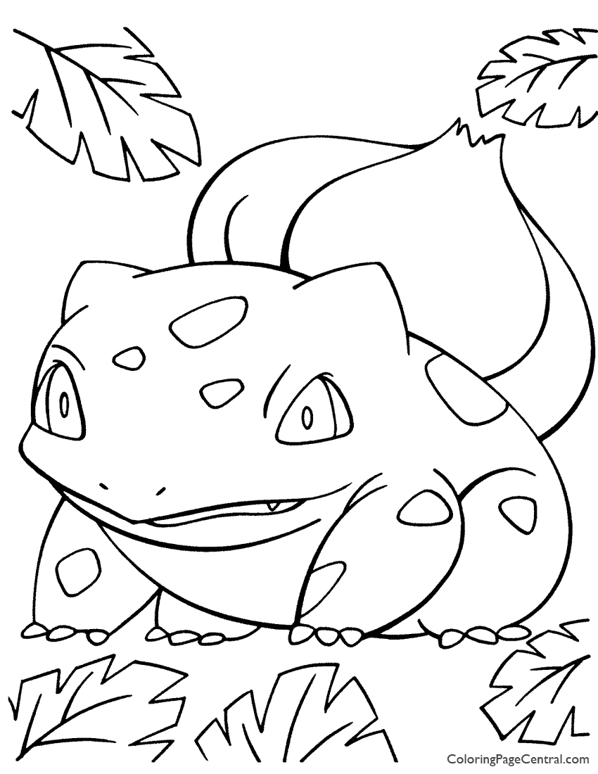 850x1100 Pokemon Bulbasaur Coloring Page Coloring Page Central