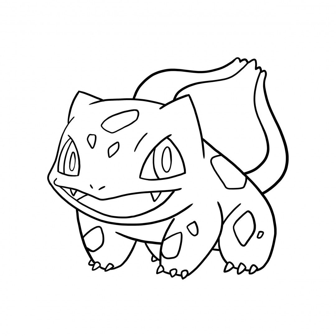 1080x1080 Coloring Pages Bulbasaur Colorings