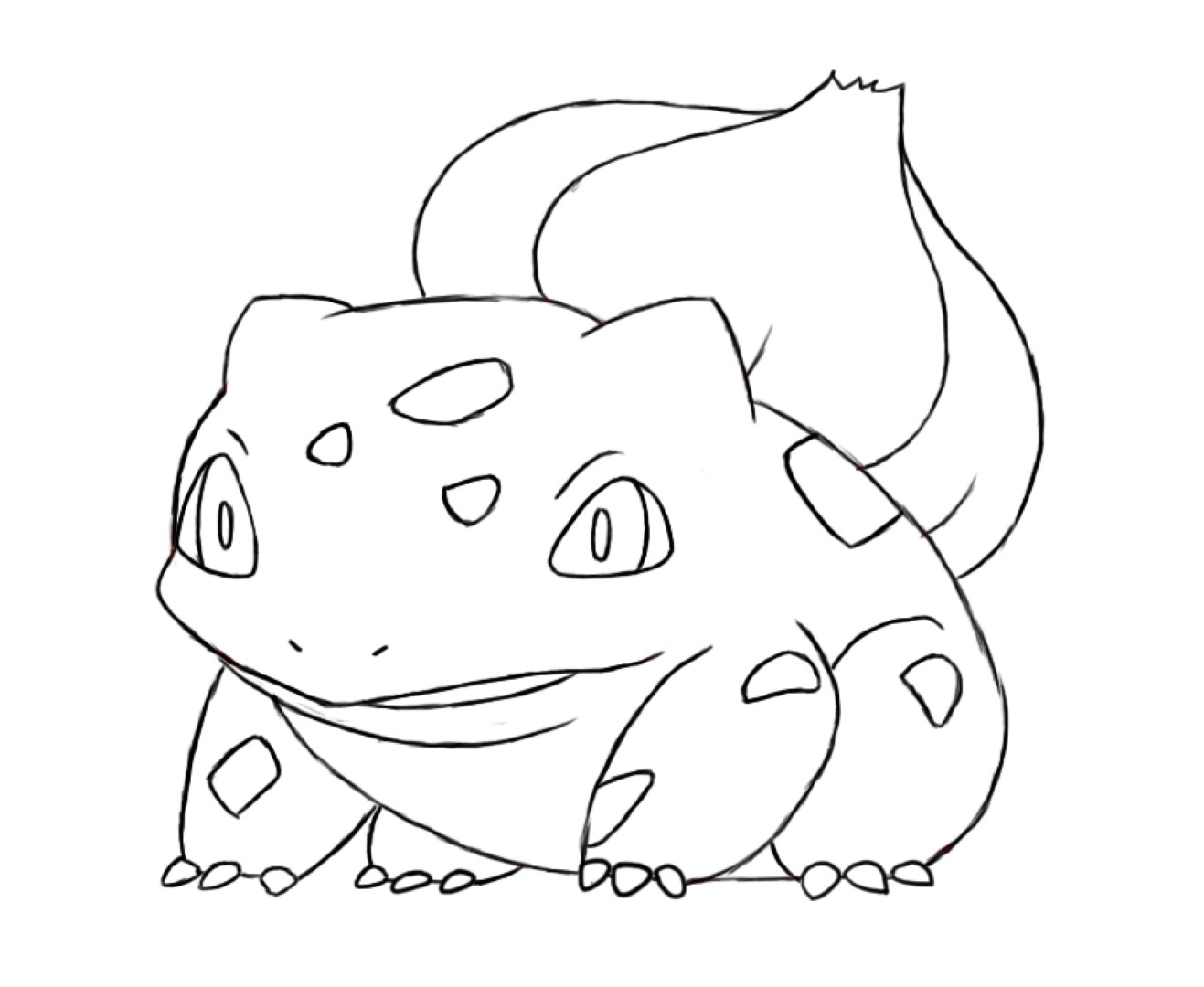 Bulbasaur Coloring Page at GetDrawings | Free download