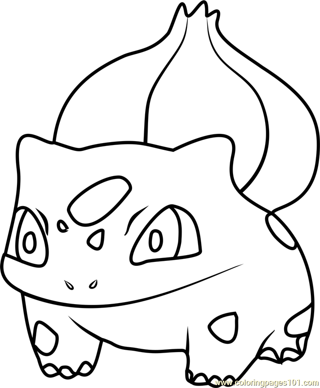 659x800 Bulbasaur Coloring Page