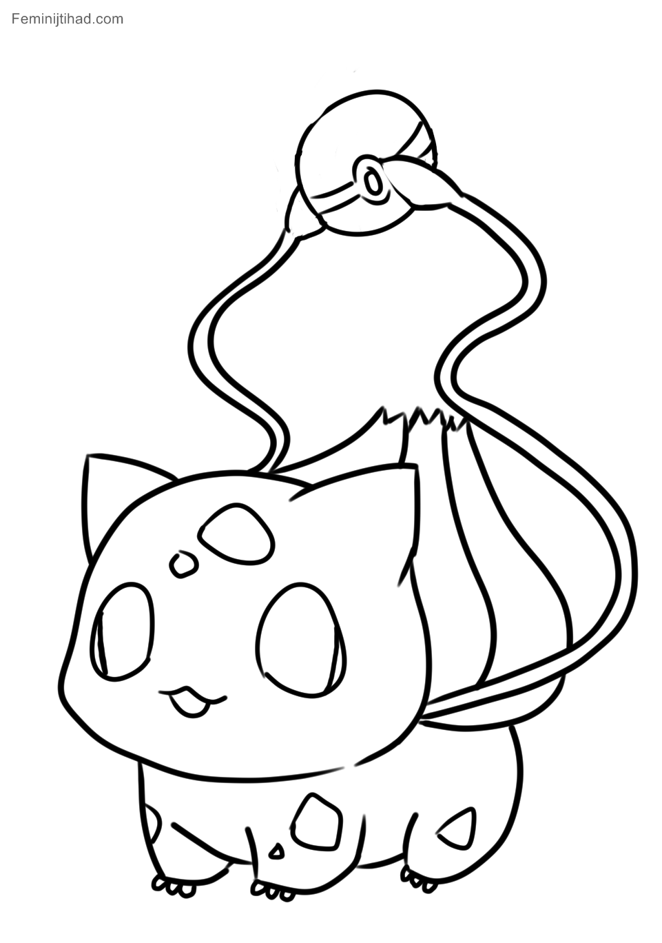 961x1368 Endorsed Bulbasaur Coloring Page Pokemon Pages