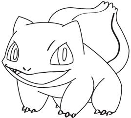 268x242 Pokemon Bulbasaur Coloring Pages