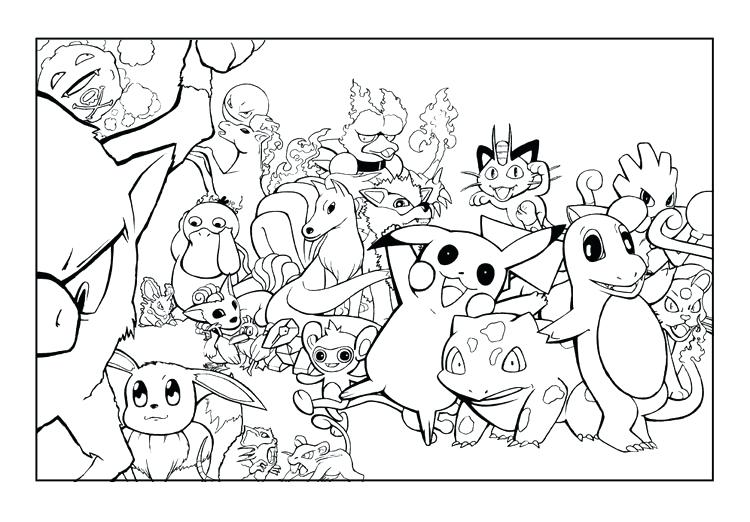 750x522 Pokemon Coloring Pages Bulbasaur Characters Coloring Sheet
