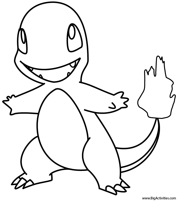 751x851 Pokemon Coloring Pages Charmander For Good Print Page Dringrames