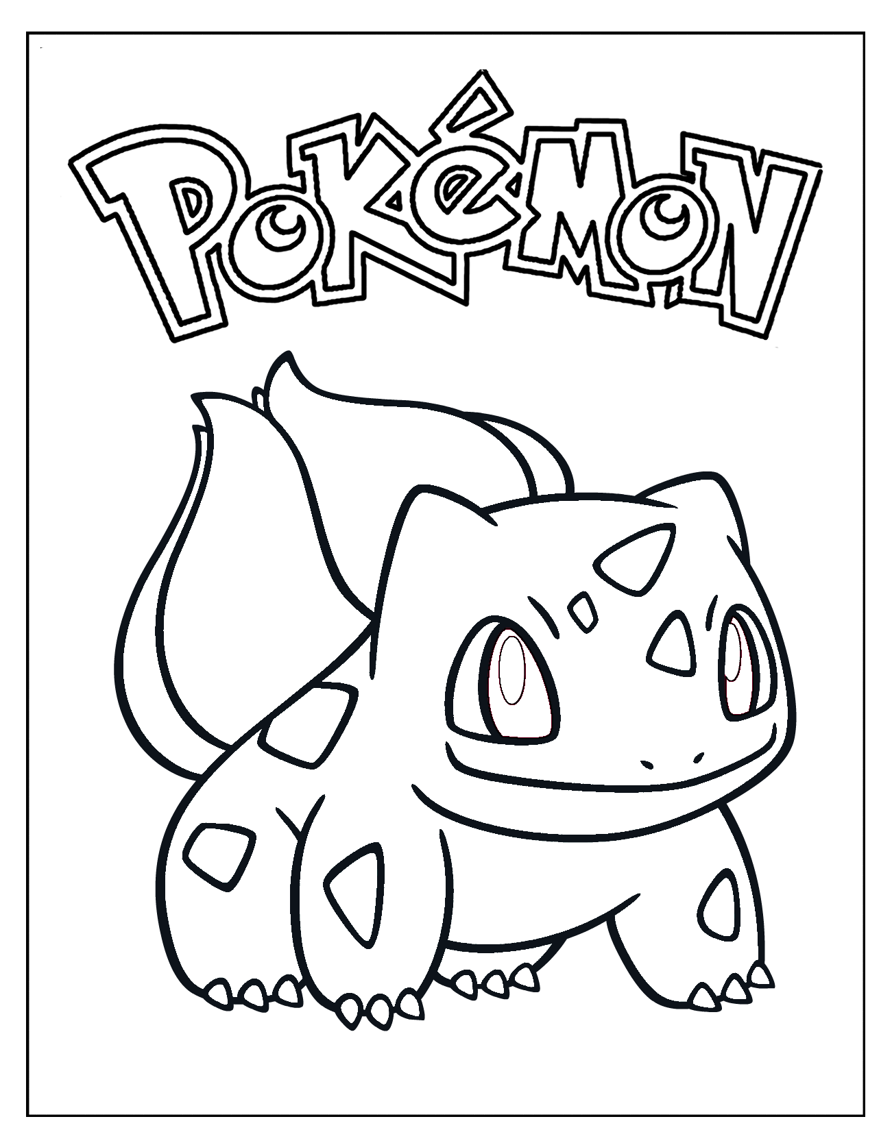1301x1668 Projects Idea Of Bulbasaur Coloring Page Pages Printable Pokemon