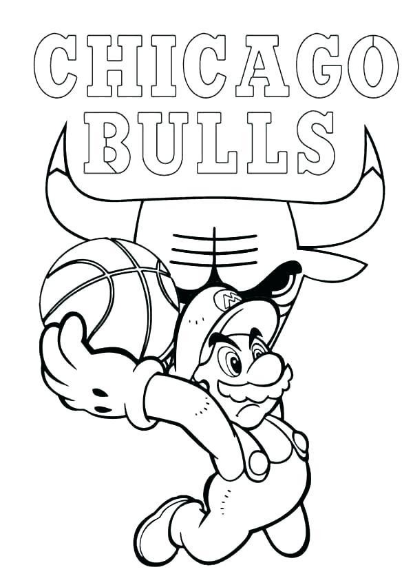 600x849 Bull Coloring Page Bull Pictures To Color Basketball Red Bull