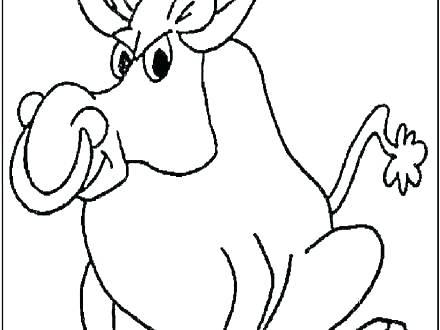 440x330 Bull Riding Coloring Pages Bucking Bull Cowboy Riding A Bull