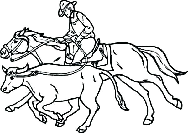 600x426 Bull Riding Coloring Pages Bull Coloring Page Cowboy An Expert
