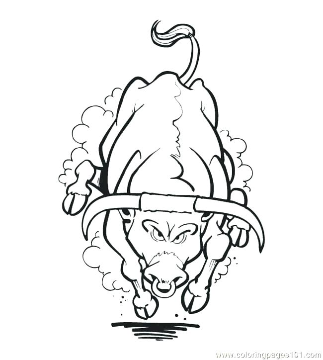 650x724 Chicago Bulls Coloring Pages Bulls Coloring Sheets Bull Coloring