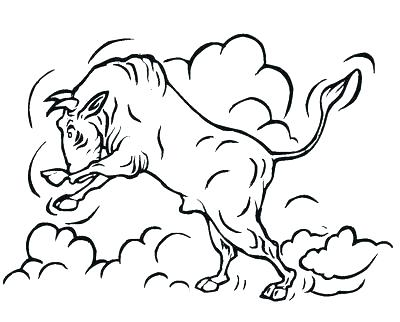 400x322 Bull Coloring Page