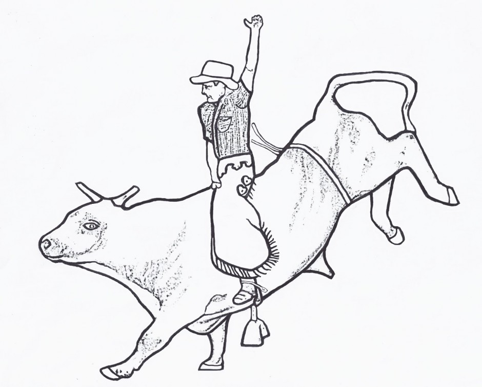 940x754 Bull Coloring Pages To Download And Print For Free