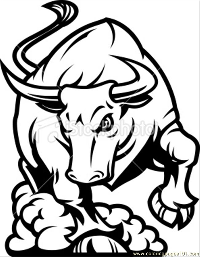 650x834 Coloring Pages Of Bulls Bull Coloring Page Bucking Bulls