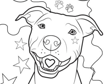 340x270 Pitbull Coloring Pages Delectable Pitbull Coloring Page Free