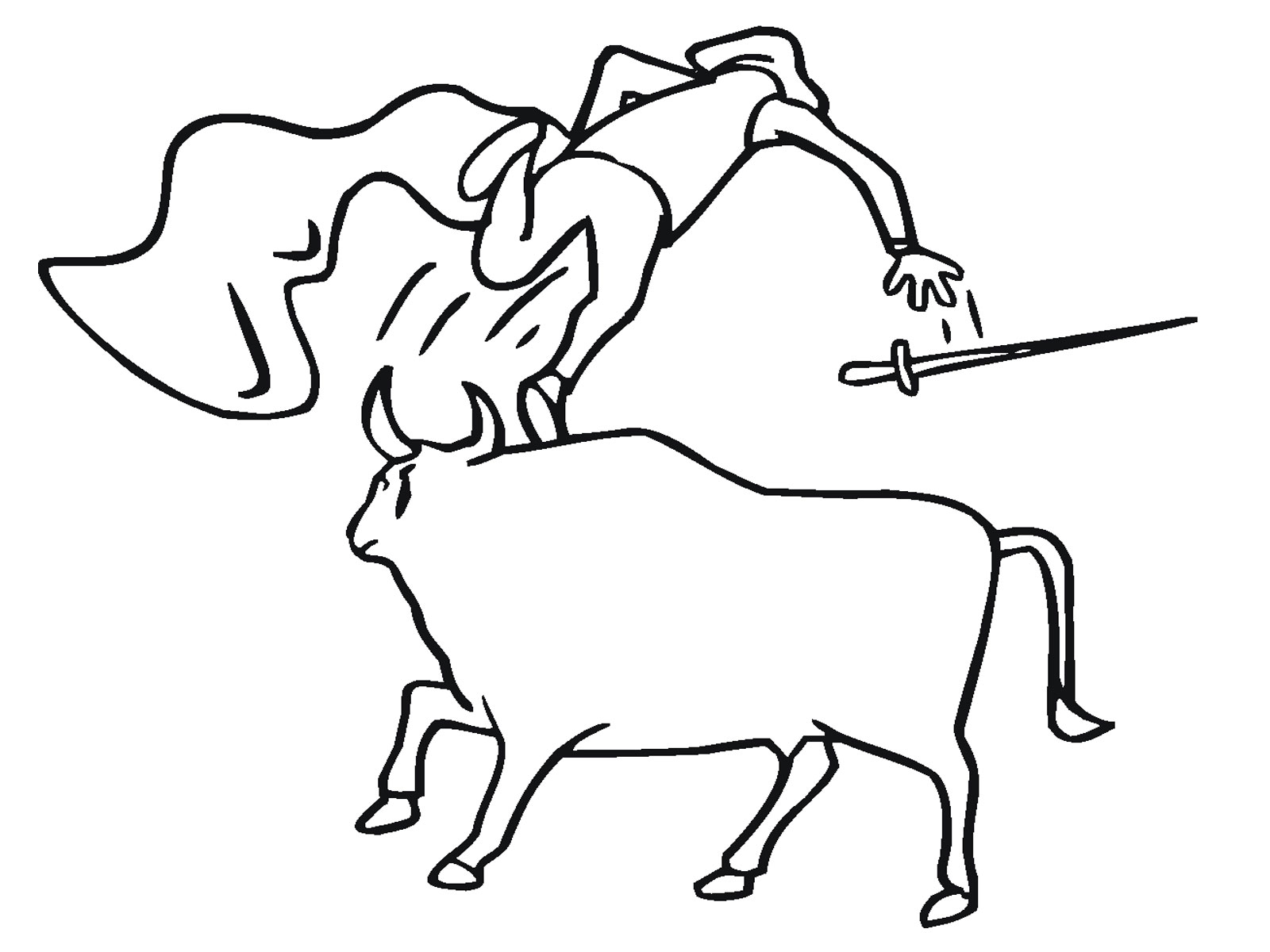 1600x1200 Printable Bull Coloring Pages