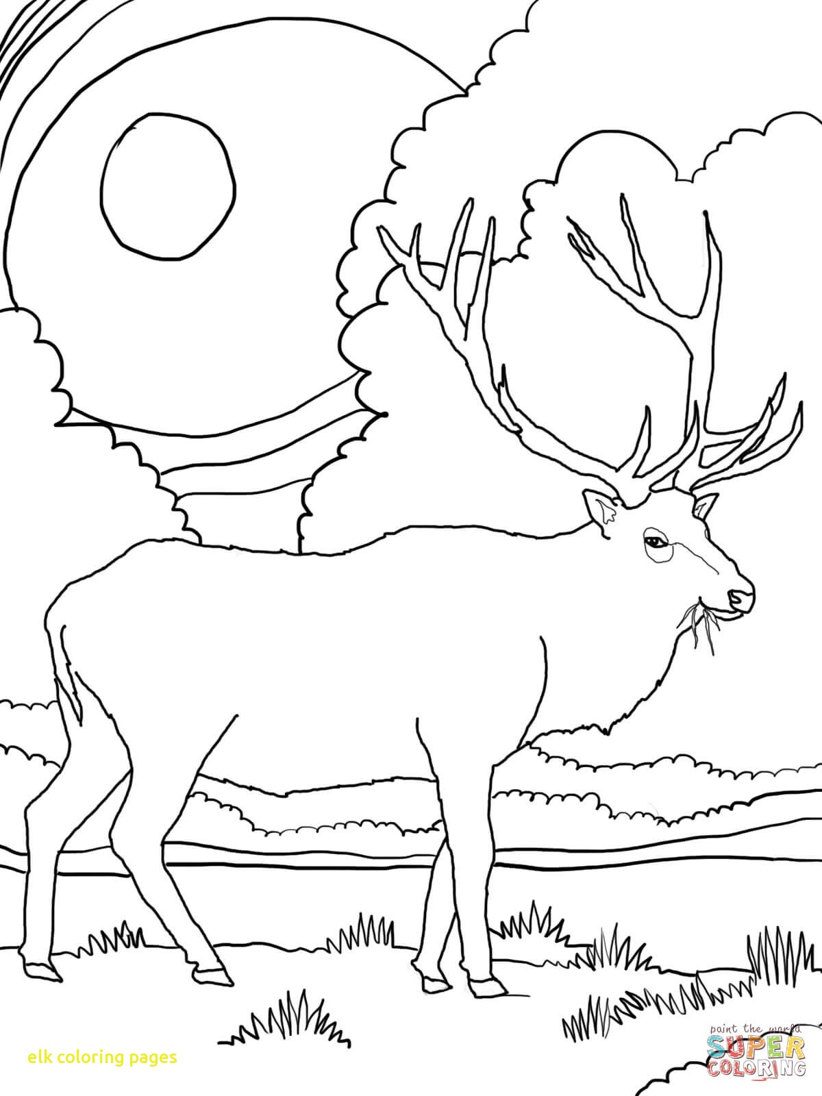 1200x1600 Elk Coloring Pages With Page Free Printable Inside