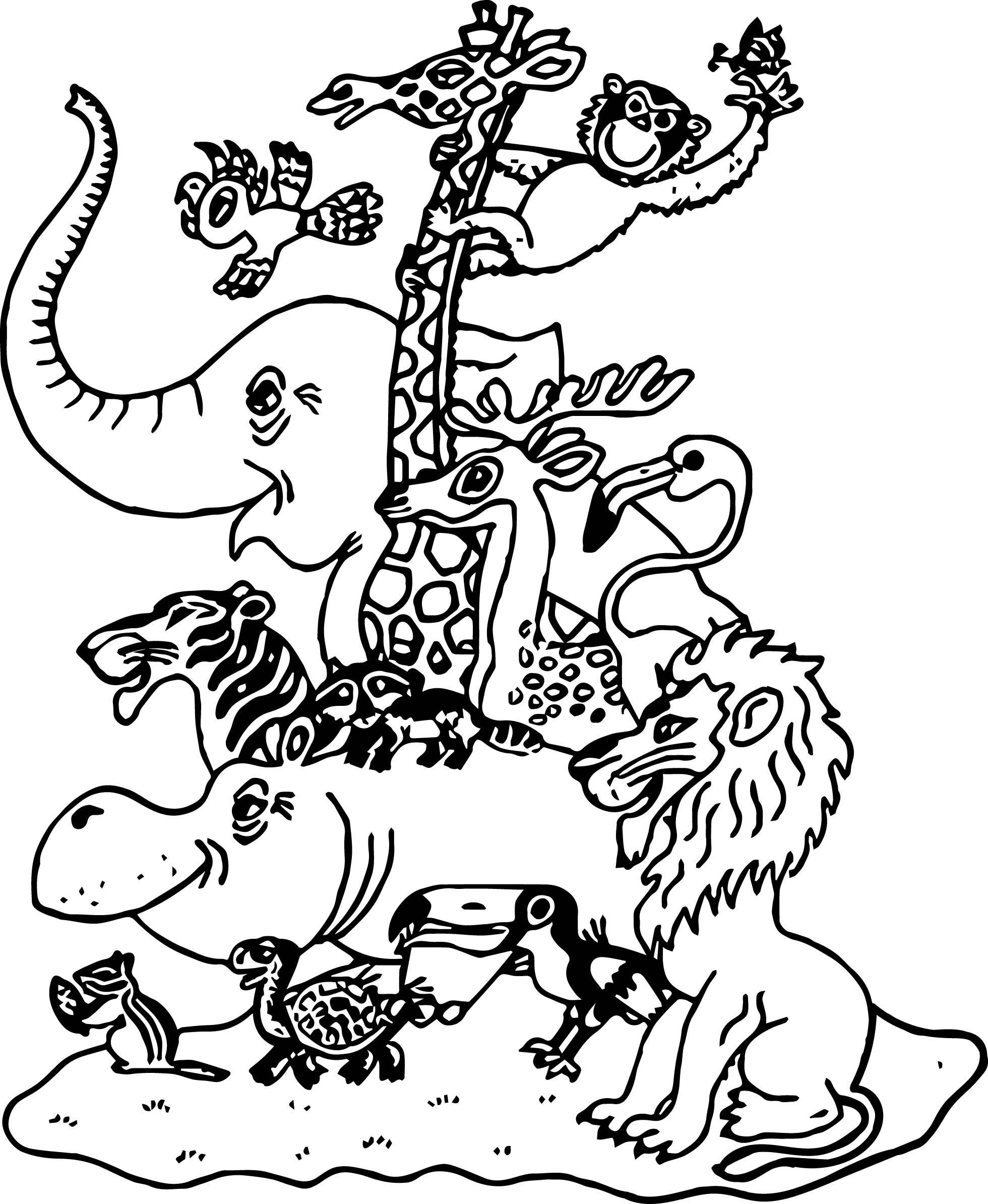 1960x2388 Bull Moose Coloring Page To Print