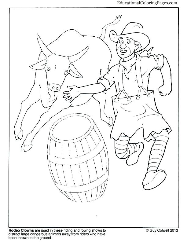 612x792 Bull Riding Coloring Pages Rodeo Clown Pbr Bull Riding Coloring