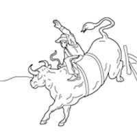 200x200 Bull Riding Coloring Pages Surfnetkids