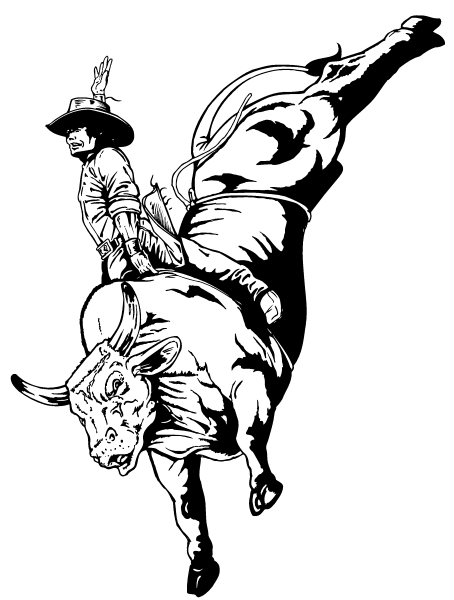 454x600 Bull Riding Coloring Pages