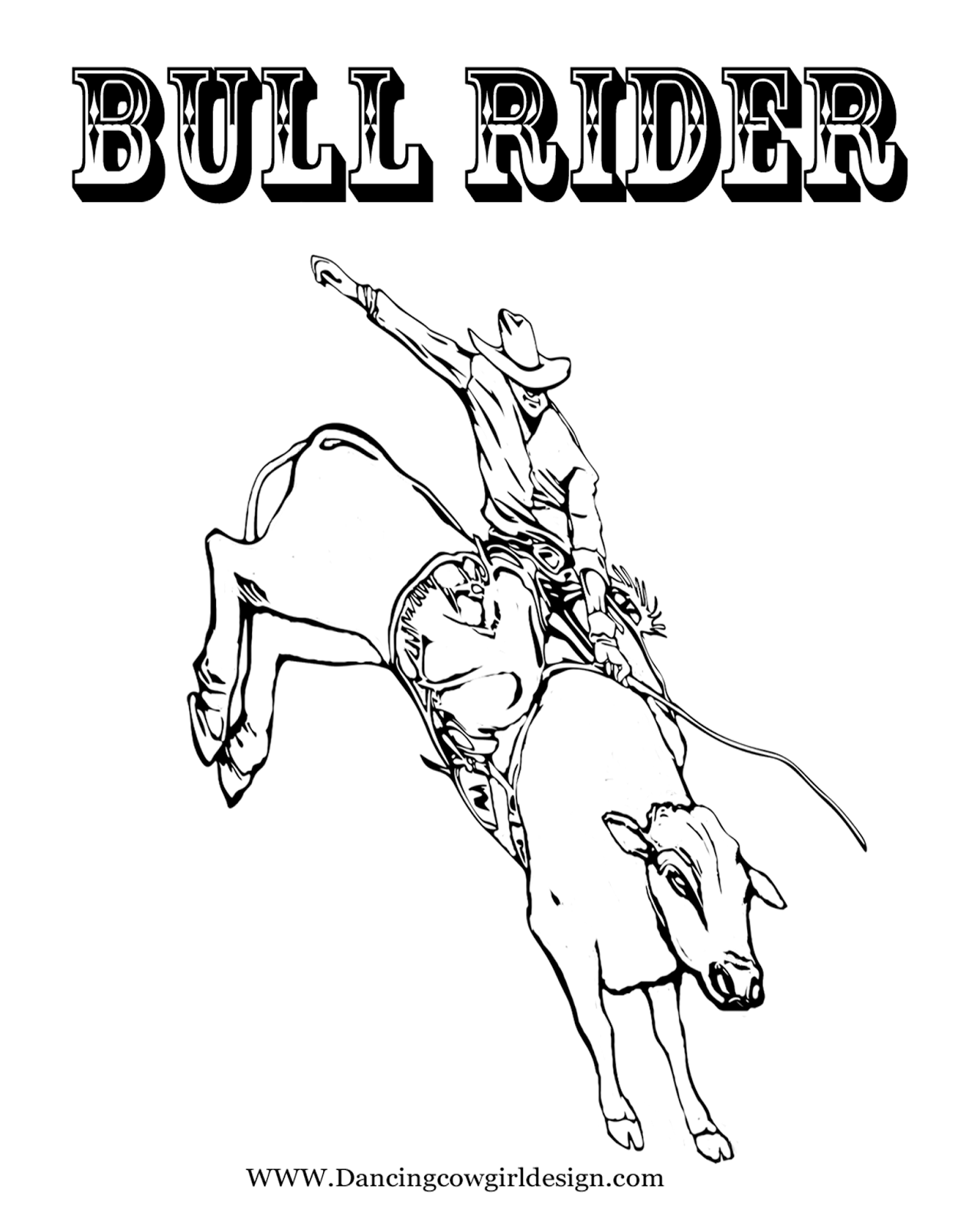 1280x1600 Unique Pbr Coloring Pages Bull Rider