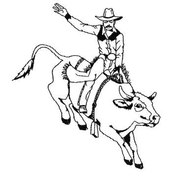 350x350 Bull Riding Coloring Pages Ideas For Kids