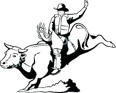 400x322 Bull Riding Coloring Pages